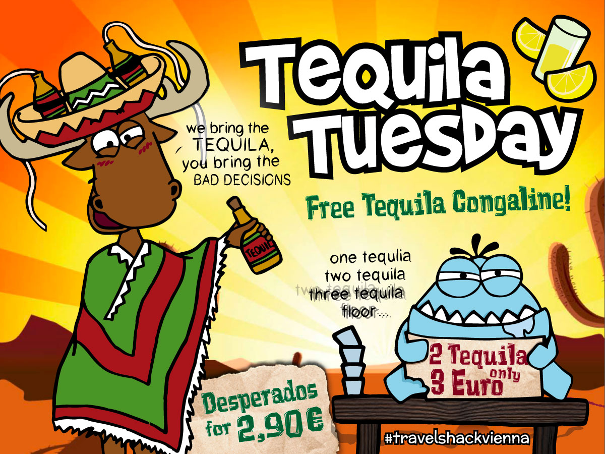 Travel Shack Tequila Tuesday Design